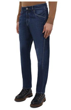 Мужские джинсы BRUNELLO CUCINELLI темно-синего цвета, арт. M0Z37Q3040   Фото 3
