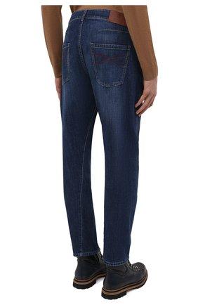 Мужские джинсы BRUNELLO CUCINELLI темно-синего цвета, арт. M0Z37Q3040   Фото 4