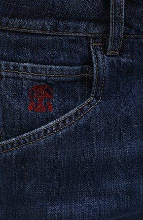Мужские джинсы BRUNELLO CUCINELLI темно-синего цвета, арт. M0Z37Q3040   Фото 5