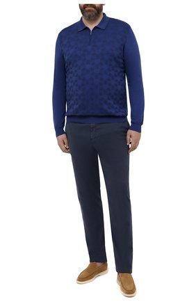 Мужские брюки MARCO PESCAROLO синего цвета, арт. CHIAIAM/4305 | Фото 2 (Длина (брюки, джинсы): Стандартные; Материал внешний: Хлопок, Лиоцелл; Случай: Повседневный; Стили: Кэжуэл; Big sizes: Big Sizes; Силуэт М (брюки): Чиносы)