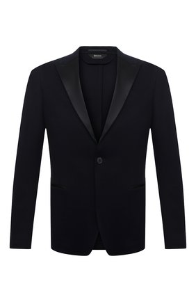 Мужской пиджак Z ZEGNA темно-синего цвета, арт. 977757/1DNKG0 | Фото 1
