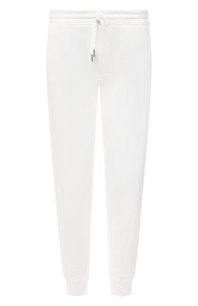 Мужские хлопковые джоггеры TOM FORD белого цвета, арт. BW265/TFJ208 | Фото 1 (Материал внешний: Хлопок; Длина (брюки, джинсы): Стандартные; Силуэт М (брюки): Джоггеры; Мужское Кросс-КТ: Брюки-трикотаж; Кросс-КТ: Спорт; Стили: Спорт-шик)