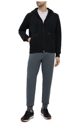 Мужские хлопковые джоггеры TOM FORD темно-зеленого цвета, арт. BW265/TFJ208   Фото 2 (Материал внешний: Хлопок; Силуэт М (брюки): Джоггеры; Длина (брюки, джинсы): Стандартные; Мужское Кросс-КТ: Брюки-трикотаж; Стили: Спорт-шик; Кросс-КТ: Спорт)