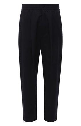 Мужские хлопковые брюки AMBUSH черного цвета, арт. BMCA023S21FAB001 | Фото 1