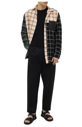 Мужские хлопковые брюки AMBUSH черного цвета, арт. BMCA023S21FAB001 | Фото 2