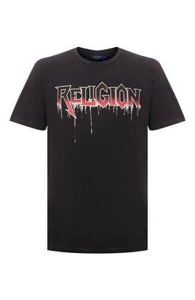 Мужская хлопковая футболка RELIGION темно-серого цвета, арт. 11BRSN96   Фото 1