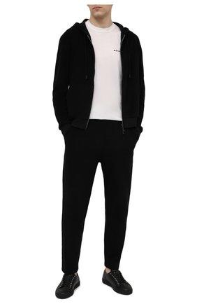 Мужской хлопковая толстовка KNT черного цвета, арт. UMM0104 | Фото 2 (Длина (для топов): Стандартные; Материал внешний: Хлопок; Стили: Спорт-шик; Рукава: Длинные; Мужское Кросс-КТ: Толстовка-одежда)