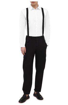 Мужская хлопковая рубашка TRANSIT белого цвета, арт. CFUTRNU300 | Фото 2