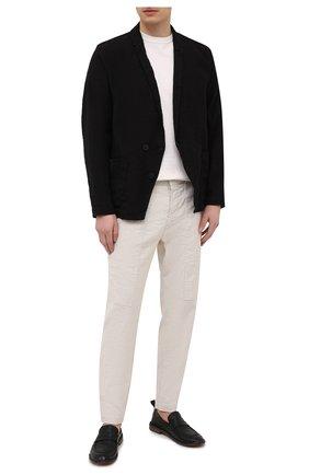 Мужской пиджак из хлопка и льна TRANSIT черного цвета, арт. CFUTRNH171 | Фото 2