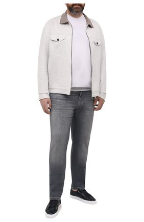 Мужской кардиган изо льна и хлопка CORTIGIANI бежевого цвета, арт. 114618/0000/60-70 | Фото 2