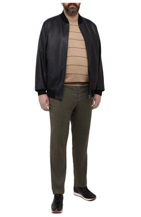 Мужской хлопковое джемпер CORTIGIANI бежевого цвета, арт. 119113/0500/60-70 | Фото 2