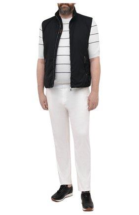 Мужской хлопковое джемпер CORTIGIANI белого цвета, арт. 119113/0500/60-70 | Фото 2