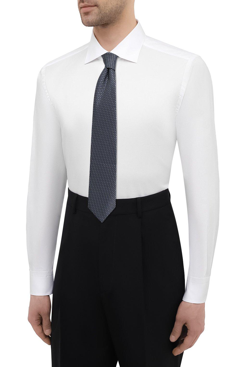 Мужская хлопковая сорочка BRIONI белого цвета, арт. RCH10N/P004L | Фото 4