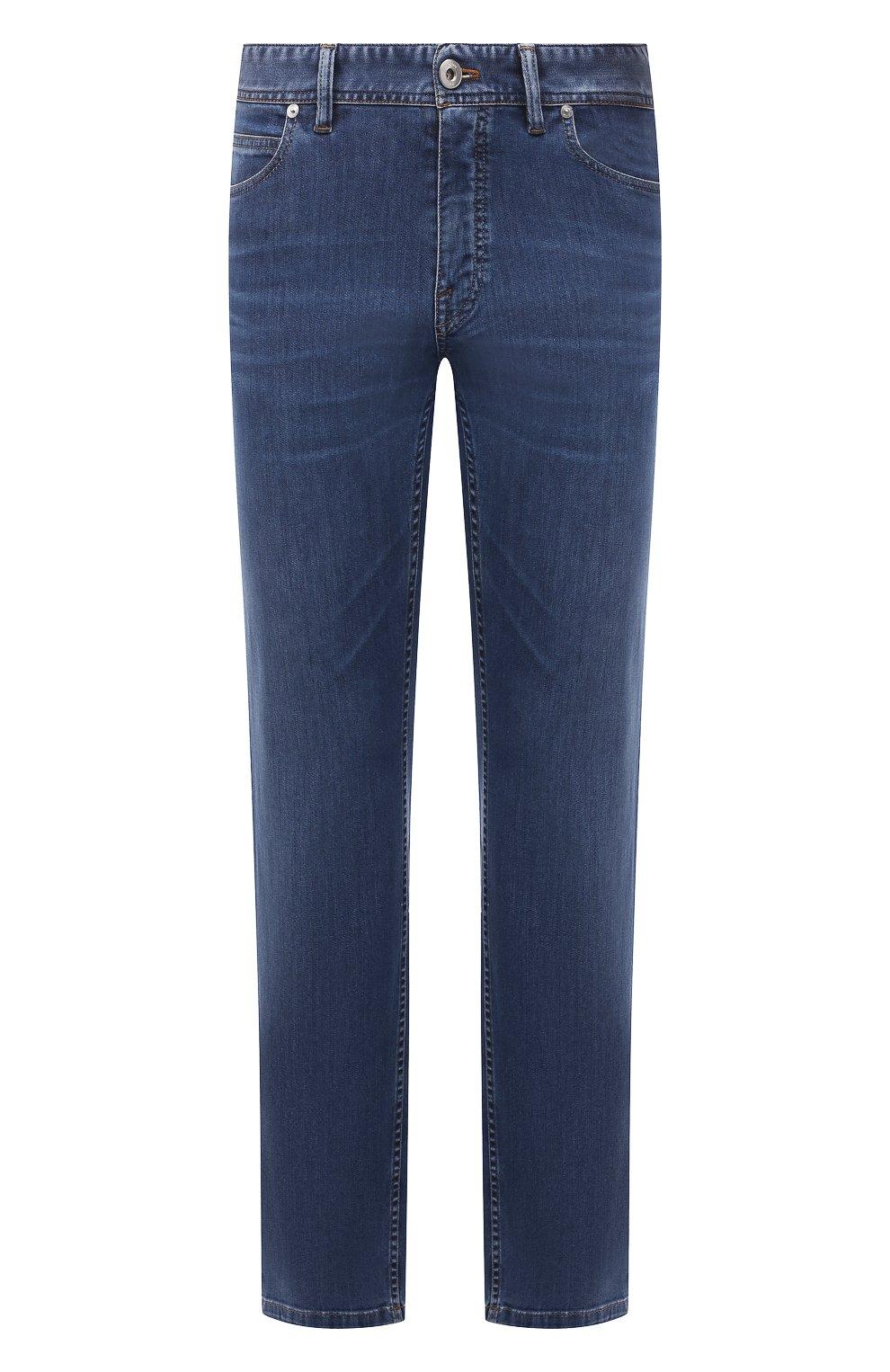Мужские джинсы BRIONI синего цвета, арт. SPPB0M/P0D06/MERIBEL   Фото 1