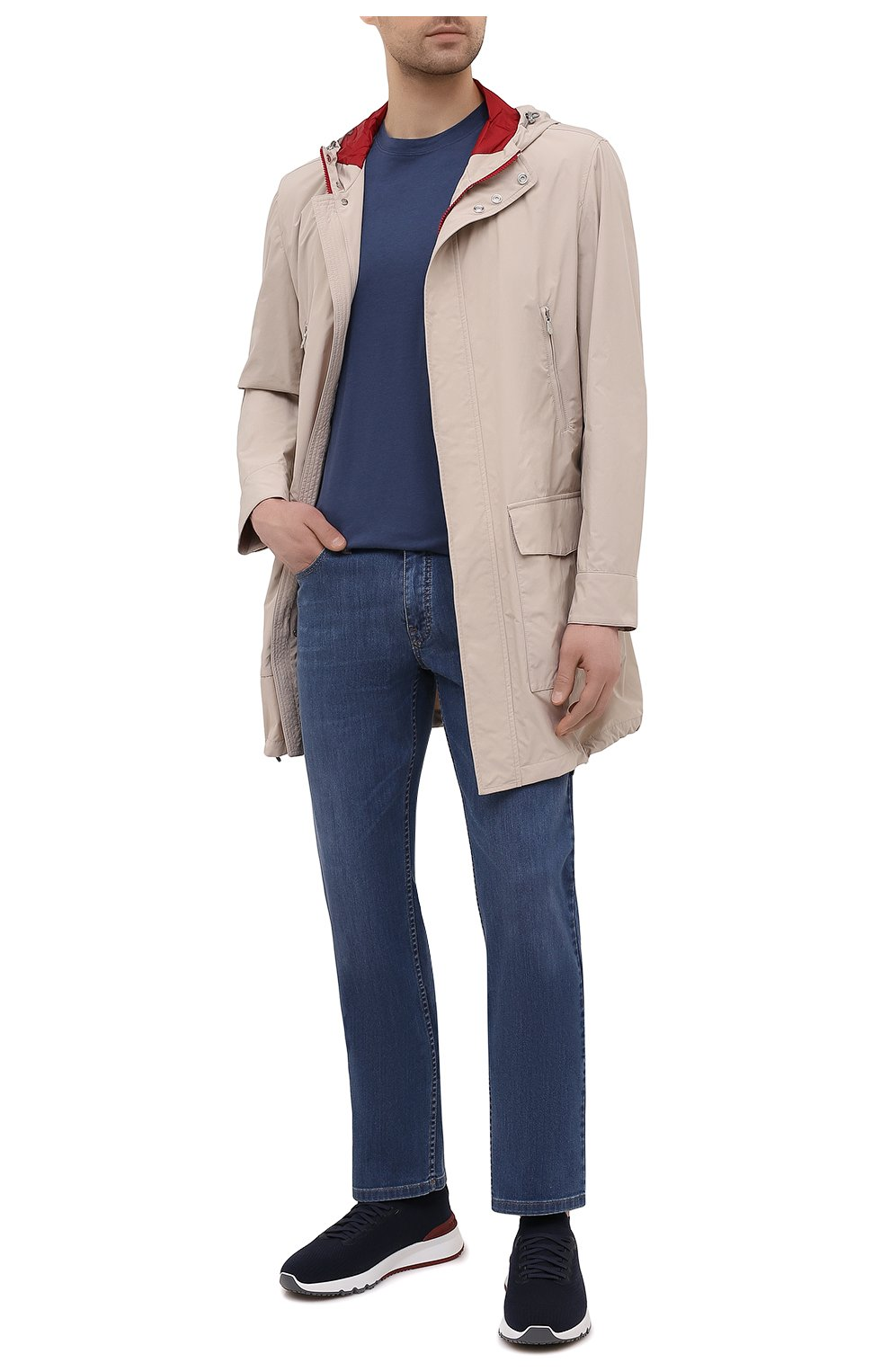 Мужские джинсы BRIONI синего цвета, арт. SPPB0M/P0D06/MERIBEL   Фото 2