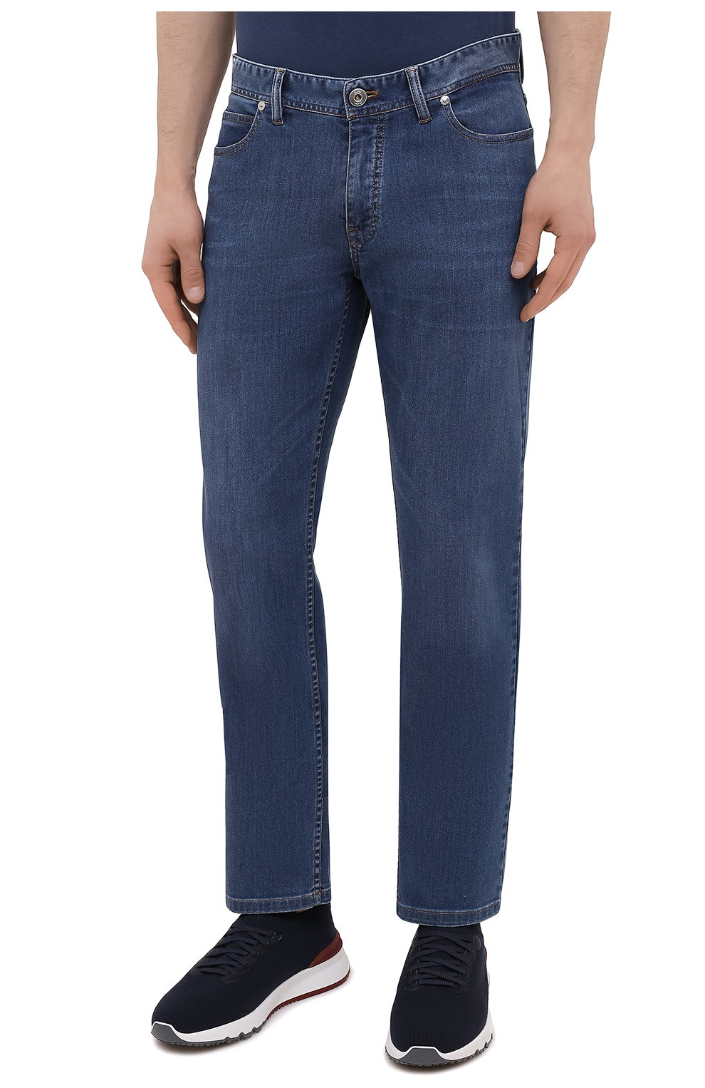 Мужские джинсы BRIONI синего цвета, арт. SPPB0M/P0D06/MERIBEL   Фото 3
