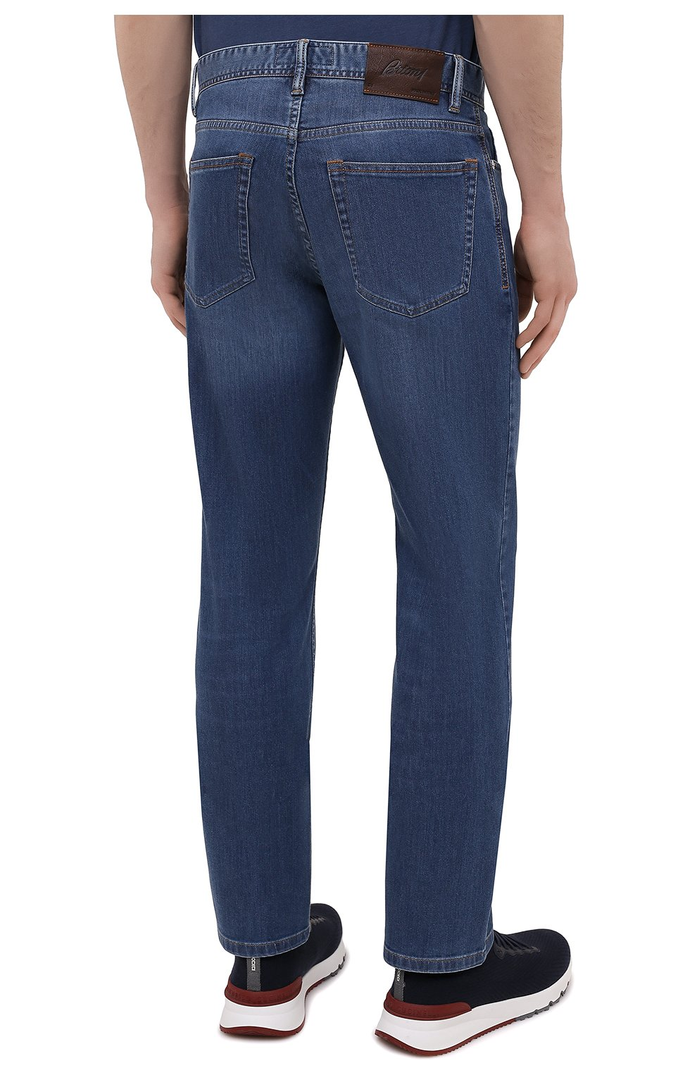 Мужские джинсы BRIONI синего цвета, арт. SPPB0M/P0D06/MERIBEL   Фото 4