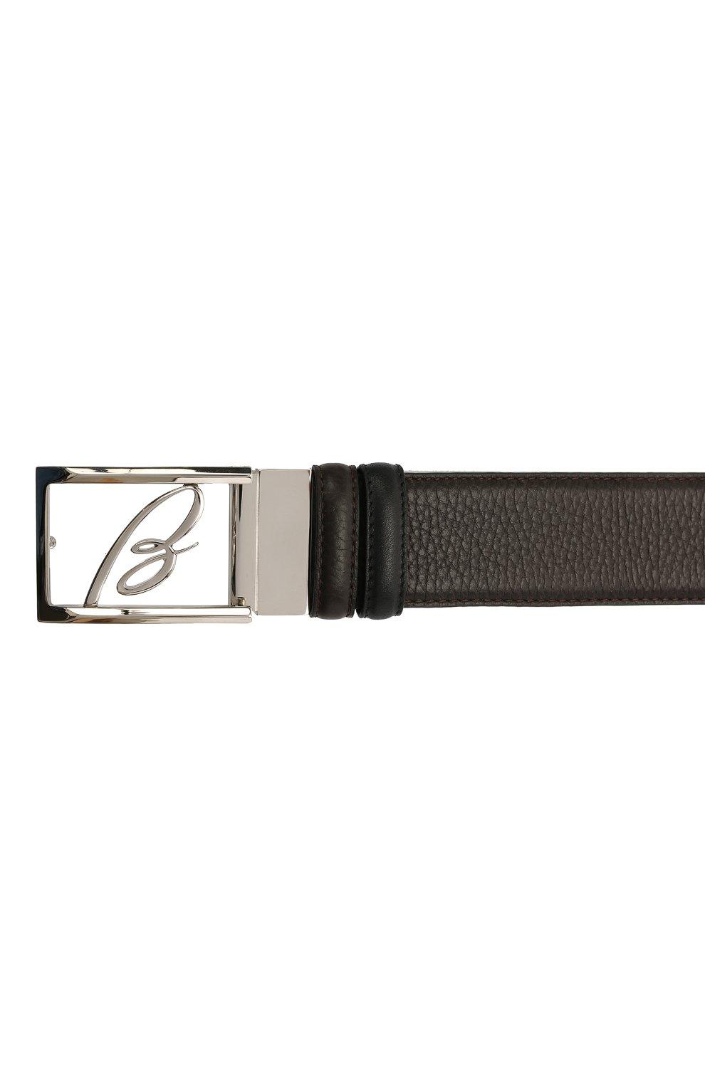 Мужской кожаный ремень BRIONI темно-коричневого цвета, арт. 0BAS0L/09719   Фото 3