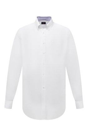 Мужская льняная рубашка PAUL&SHARK белого цвета, арт. 21413108/F7E | Фото 1