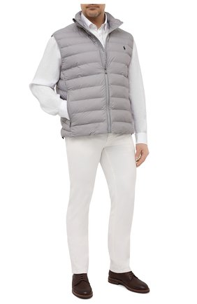 Мужская льняная рубашка PAUL&SHARK белого цвета, арт. 21413108/F7E | Фото 2