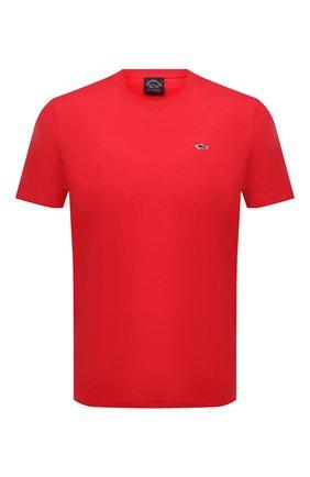 Мужская хлопковая футболка PAUL&SHARK красного цвета, арт. C0P1092/C00 | Фото 1