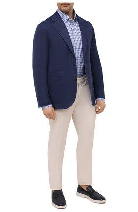 Мужская хлопковая рубашка ETON синего цвета, арт. 1000 02229 | Фото 2