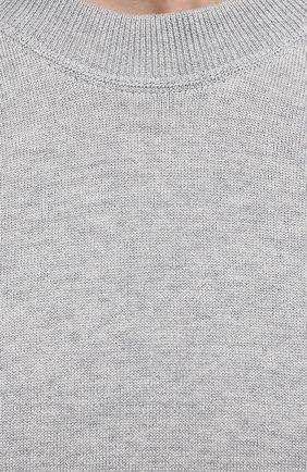 Мужской джемпер из хлопка и шелка TOM FORD светло-серого цвета, арт. BWT21/TFK310 | Фото 5