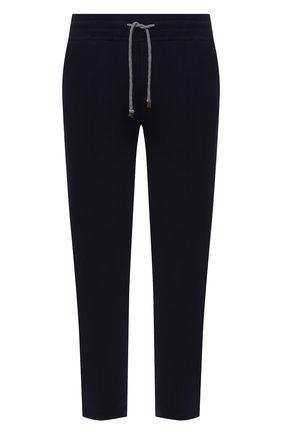 Мужские хлопковые брюки BRUNELLO CUCINELLI темно-синего цвета, арт. M0T153212G | Фото 1