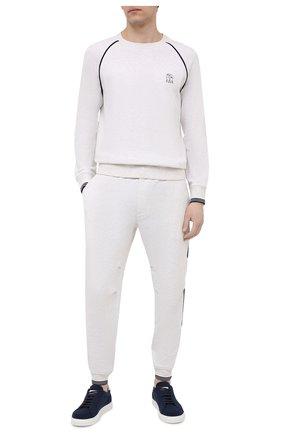 Мужской хлопковый свитшот BRUNELLO CUCINELLI белого цвета, арт. M0T359196G | Фото 2