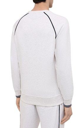 Мужской хлопковый свитшот BRUNELLO CUCINELLI белого цвета, арт. M0T359196G | Фото 4