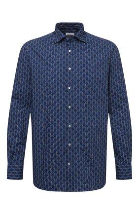 Мужская хлопковая сорочка ZILLI синего цвета, арт. MFV-84002-G11601/ZS2 | Фото 1