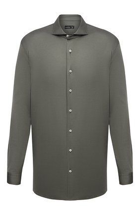 Мужская хлопковая рубашка VAN LAACK хаки цвета, арт. M-PER-L/180031/3XL | Фото 1