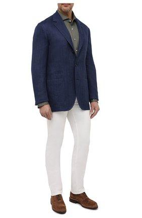 Мужская хлопковая рубашка VAN LAACK хаки цвета, арт. M-PER-L/180031/3XL | Фото 2