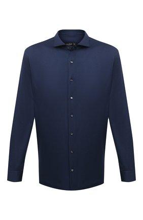 Мужская хлопковая рубашка VAN LAACK синего цвета, арт. M-PER-LSF/180031/3XL | Фото 1 (Длина (для топов): Стандартные; Материал внешний: Хлопок; Случай: Повседневный; Рукава: Длинные; Стили: Кэжуэл; Воротник: Акула; Принт: Однотонные; Манжеты: На пуговицах)