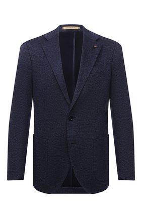 Мужской хлопковый пиджак SARTORIA LATORRE темно-синего цвета, арт. JEF74 JE2072 | Фото 1