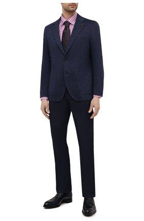 Мужской хлопковый пиджак SARTORIA LATORRE темно-синего цвета, арт. JEF74 JE2072 | Фото 2