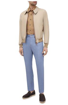 Мужская льняная рубашка LORO PIANA коричневого цвета, арт. FAL6142 | Фото 2