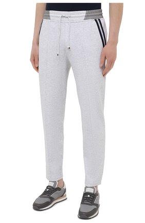 Мужские хлопковые брюки BRUNELLO CUCINELLI серого цвета, арт. M0T353373G   Фото 3