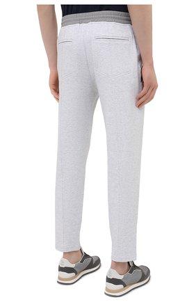 Мужские хлопковые брюки BRUNELLO CUCINELLI серого цвета, арт. M0T353373G   Фото 4