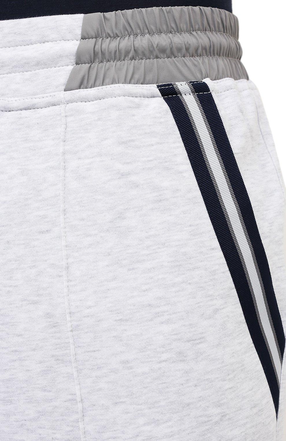 Мужские хлопковые брюки BRUNELLO CUCINELLI серого цвета, арт. M0T353373G   Фото 5