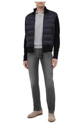Мужские джинсы KITON серого цвета, арт. UPNJSM/J06T94 | Фото 2