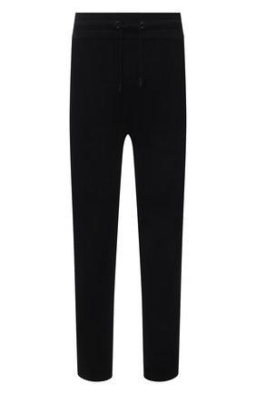 Мужские хлопковые брюки KNT черного цвета, арт. UMM0106 | Фото 1 (Длина (брюки, джинсы): Стандартные; Материал внешний: Хлопок; Стили: Спорт-шик; Случай: Повседневный; Кросс-КТ: Спорт)