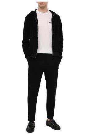 Мужские хлопковые брюки KNT черного цвета, арт. UMM0106 | Фото 2 (Длина (брюки, джинсы): Стандартные; Материал внешний: Хлопок; Стили: Спорт-шик; Случай: Повседневный; Кросс-КТ: Спорт)