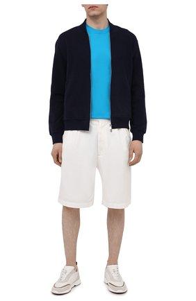 Мужская хлопковая футболка KITON голубого цвета, арт. UK1274 | Фото 2