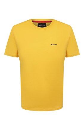 Мужская хлопковая футболка KITON желтого цвета, арт. UK1274 | Фото 1