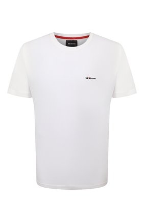 Мужская хлопковая футболка KITON белого цвета, арт. UK1274 | Фото 1
