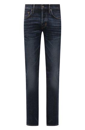 Мужские джинсы TOM FORD темно-синего цвета, арт. BWJ31/TFD002 | Фото 1