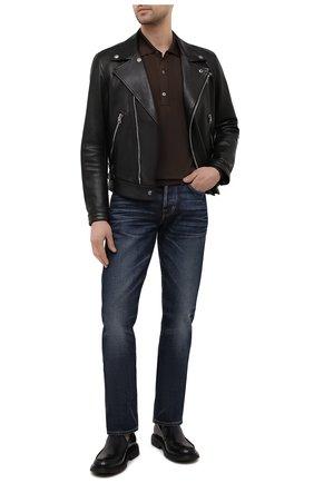 Мужские джинсы TOM FORD темно-синего цвета, арт. BWJ31/TFD002 | Фото 2