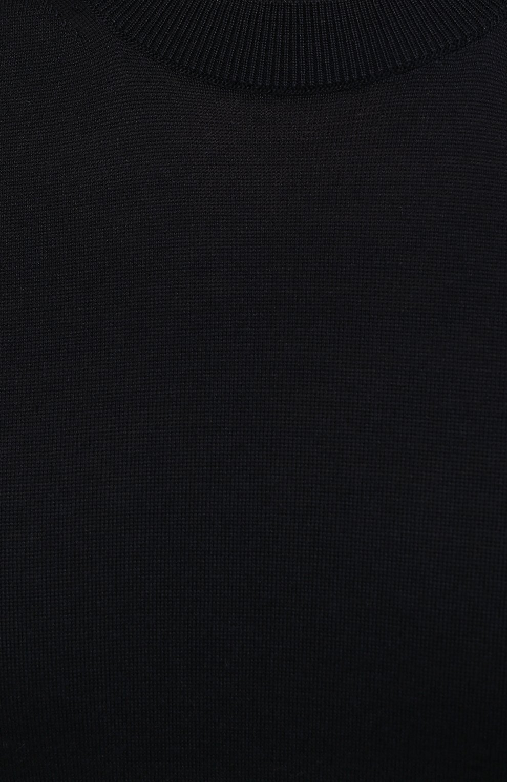 Мужской джемпер из шелка и хлопка TOM FORD темно-синего цвета, арт. BWT92/TFKC10   Фото 5 (Мужское Кросс-КТ: Джемперы; Материал внешний: Шелк, Хлопок; Принт: Без принта; Рукава: Короткие; Длина (для топов): Стандартные; Стили: Классический; Вырез: Круглый)