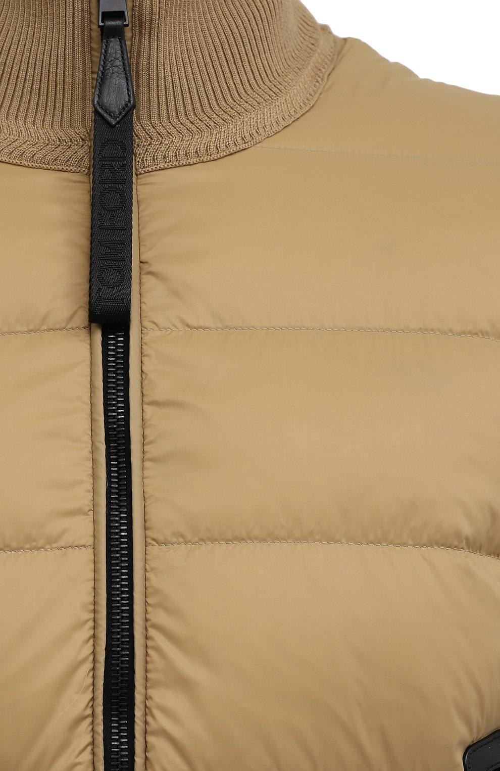 Мужской комбинированный кардиган TOM FORD бежевого цвета, арт. BWM2Y/TFK157 | Фото 5